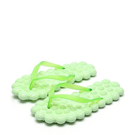 Yoins Green PVC Fashion Casual Massage Flat Slippers