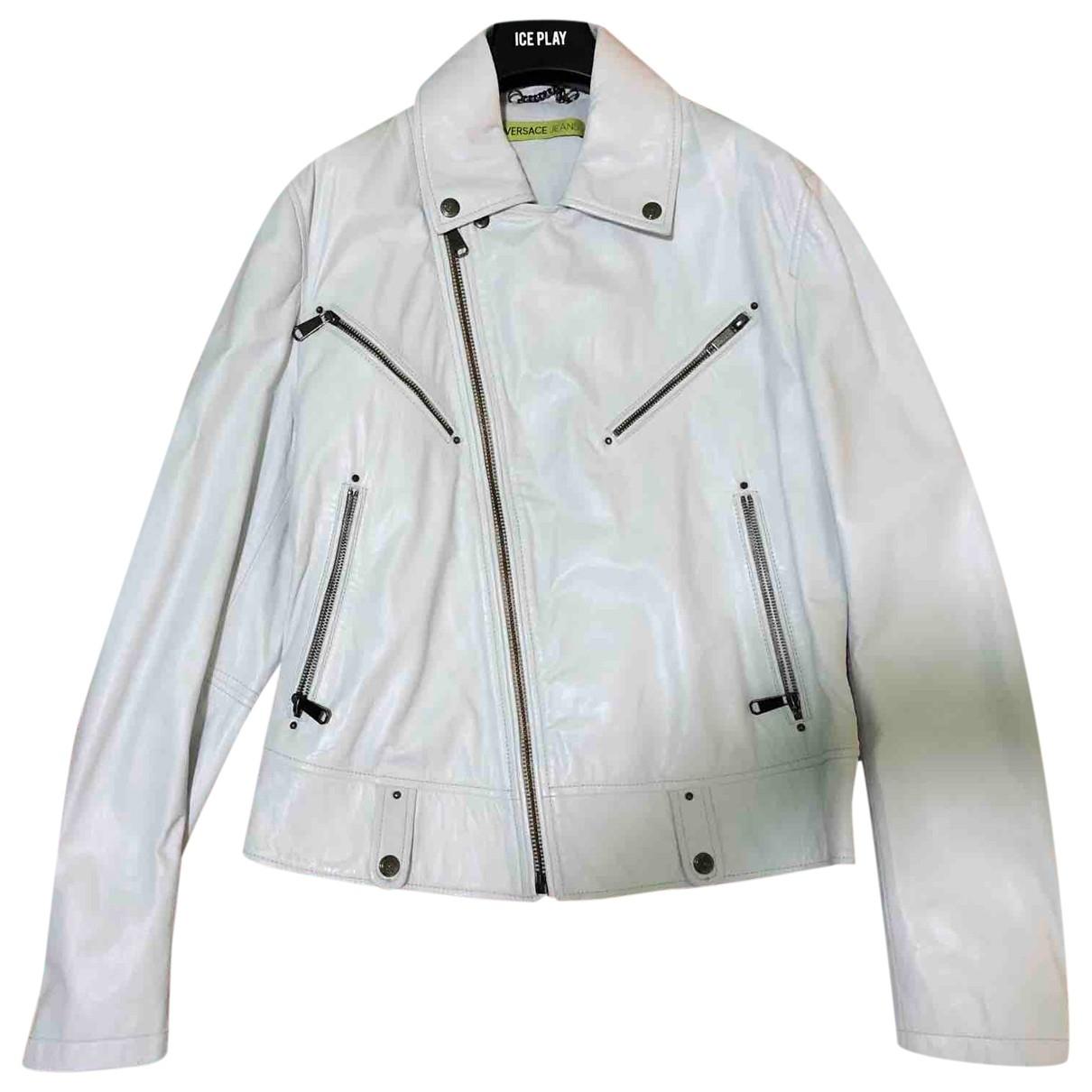 Versace Jean - Vestes.Blousons   pour homme en cuir - blanc