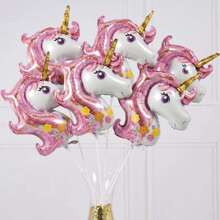 Unicorn Shaped Decorative Balloon 10pcs