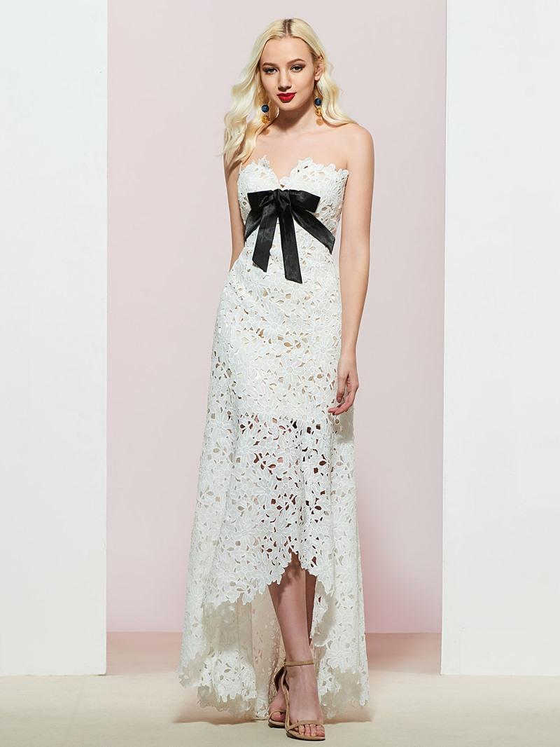 Ericdress Sleeveless Sweetheart A-Line Lace Evening Dress
