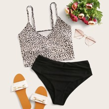 Leopard Adjustable Strap Bikini Swimsuit