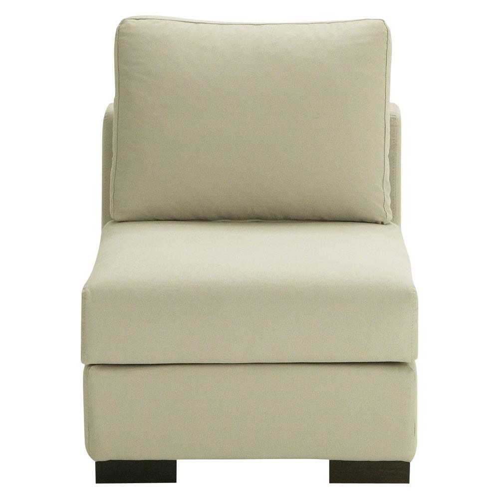 Sitzelement aus Baumwolle, B 64cm, graubeige Terence