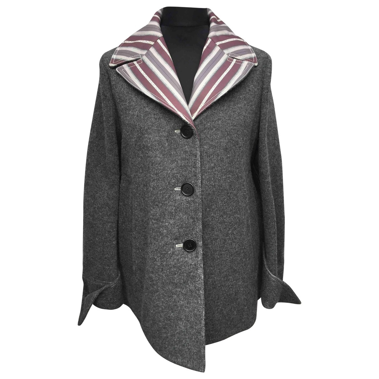 Marni - Veste   pour femme en laine - gris