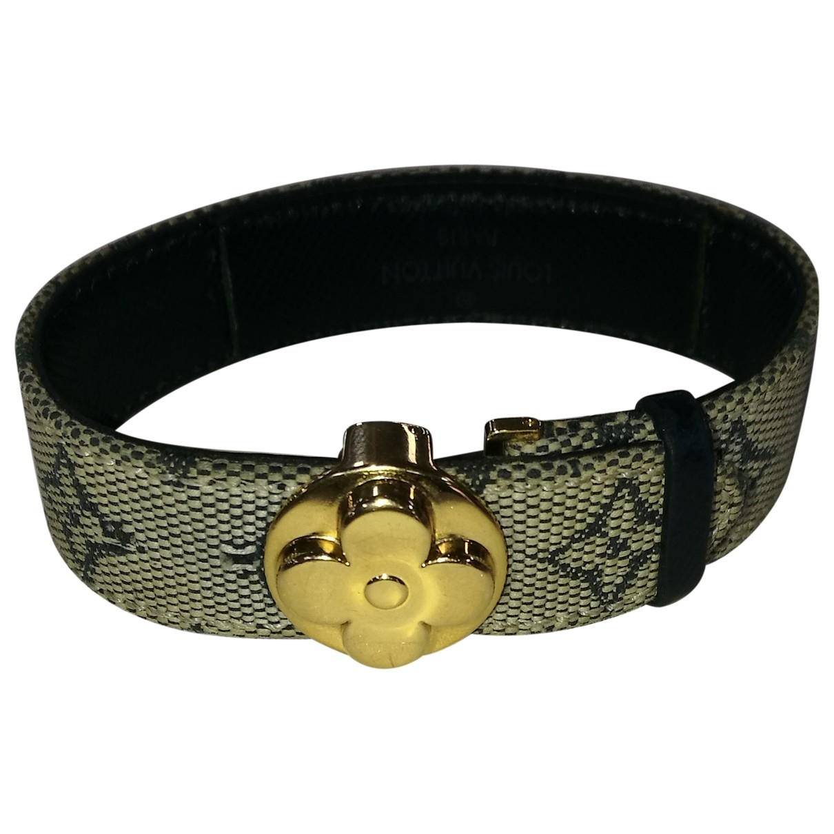 Louis Vuitton \N Armband in  Marine Leinen