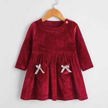 Vestidos bebe Boton Liso Glamour