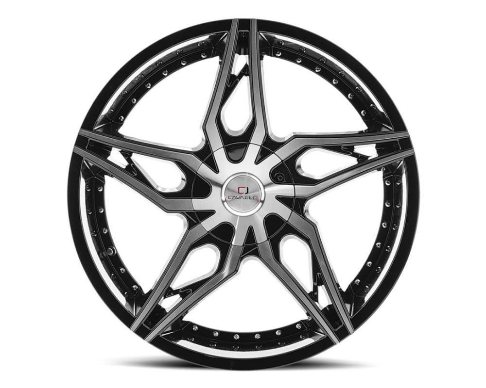 Cavallo CLV-38 Wheel 22x8.5 5x114.3|5x120 38mm Gloss Black Machined