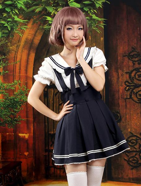 Milanoo Trajes de bicolor de manga corta de estilo de Lolita