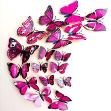 12 Stuecke 3D Schmetterling formiger Wandaufkleber