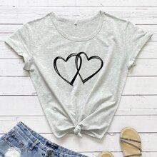 Herz Laessig T-Shirts