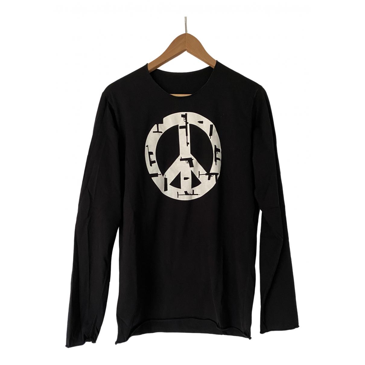 Lucien Pellat Finet - Tee shirts   pour homme en coton - noir