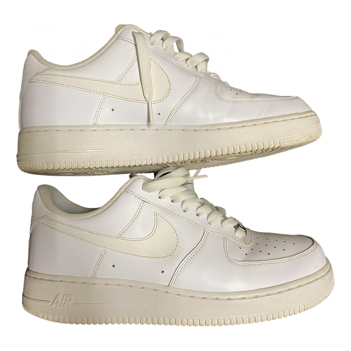 Nike - Baskets Air Force 1 pour homme en cuir - blanc