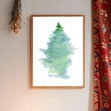 Pintura de pared con estampado de dibujo sin marco