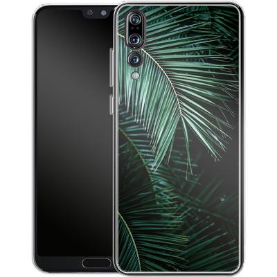 Huawei P20 Pro Silikon Handyhuelle - Palm Leaves 9 von Mareike Bohmer
