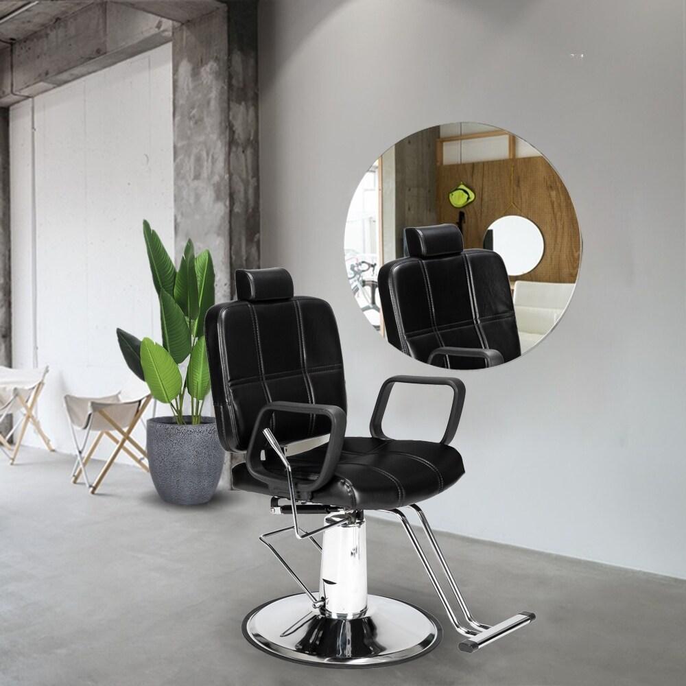 Reclining Haircut Lady Chair Hairdressing Chair Black - 8' x 10' (Hair Pomades and Waxes - Black)