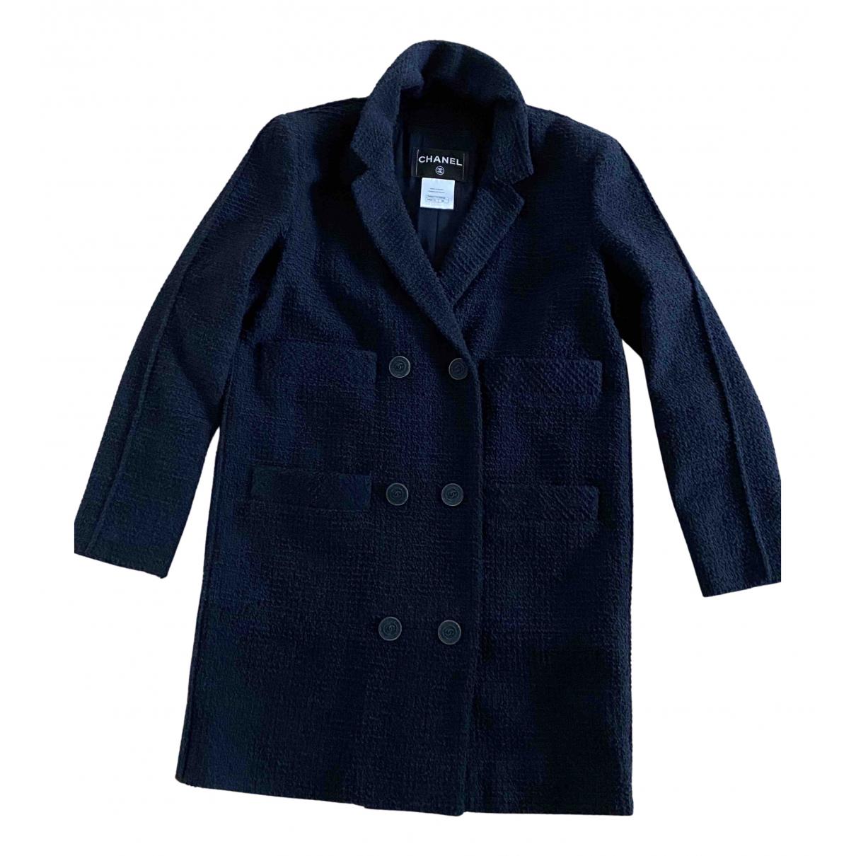 Chanel - Manteau   pour femme en laine - bleu