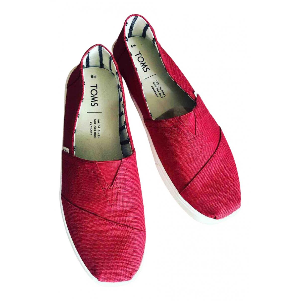 Tom's N Red Cloth Espadrilles for Men 42 EU