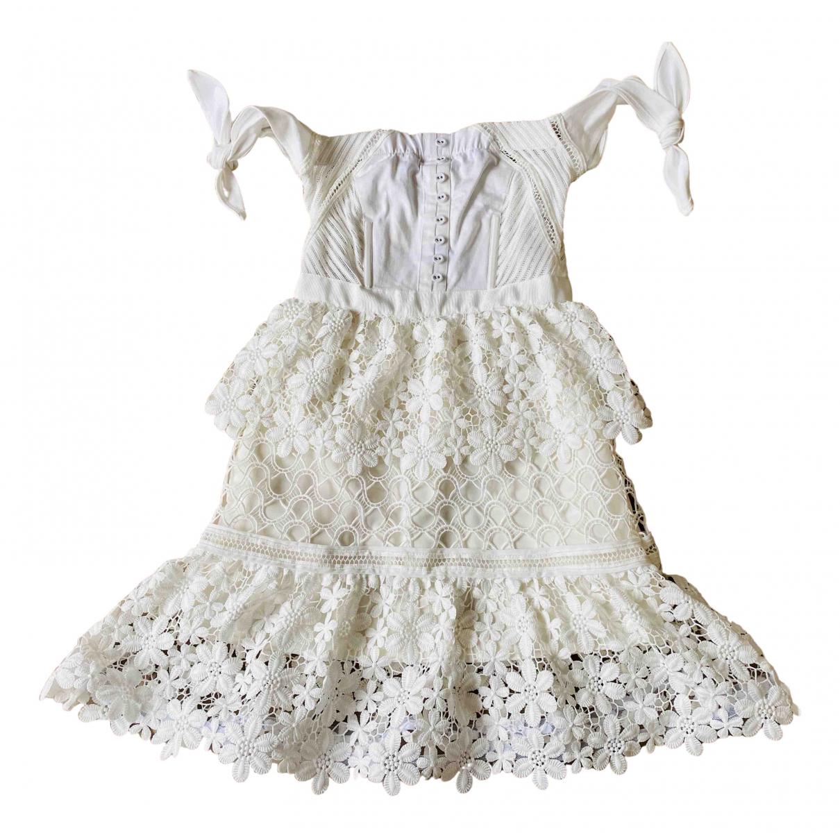 Self Portrait \N White dress for Women 6 UK