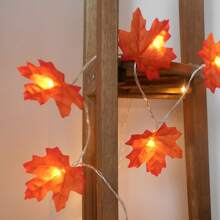 1 pieza luz de cuerda con 40 piezas bombilla en forma de arce