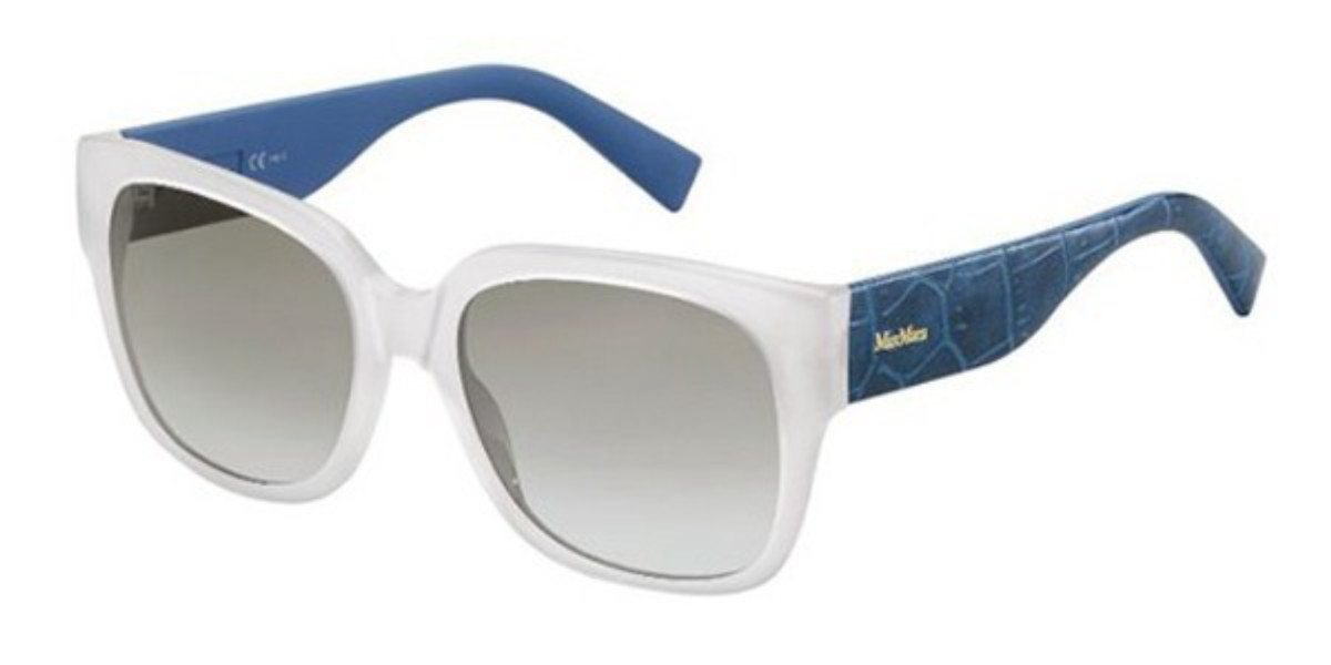 Max Mara MM 0001/S C0F/YE Women's Sunglasses Blue Size 55