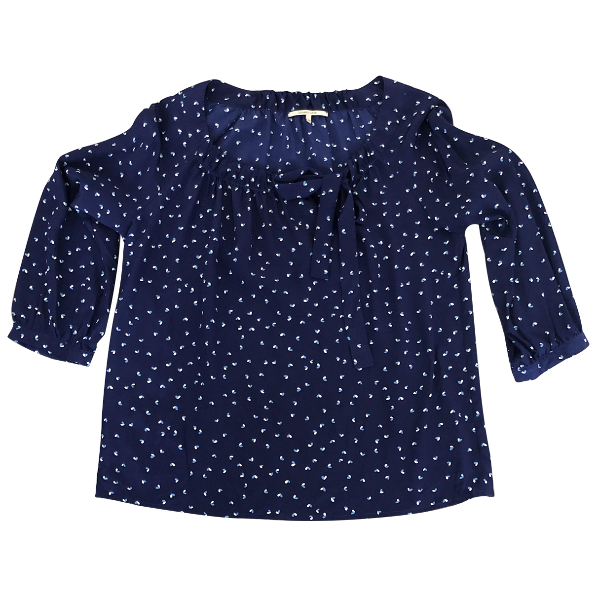 Gerard Darel \N Blue Silk  top for Women 38 FR