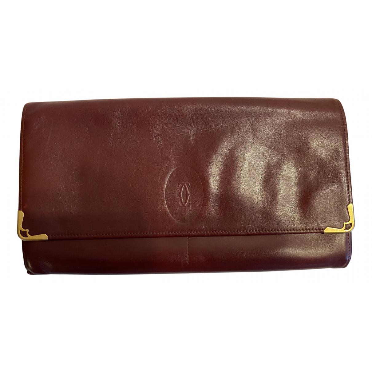 Cartier N Burgundy Leather Clutch bag for Women N