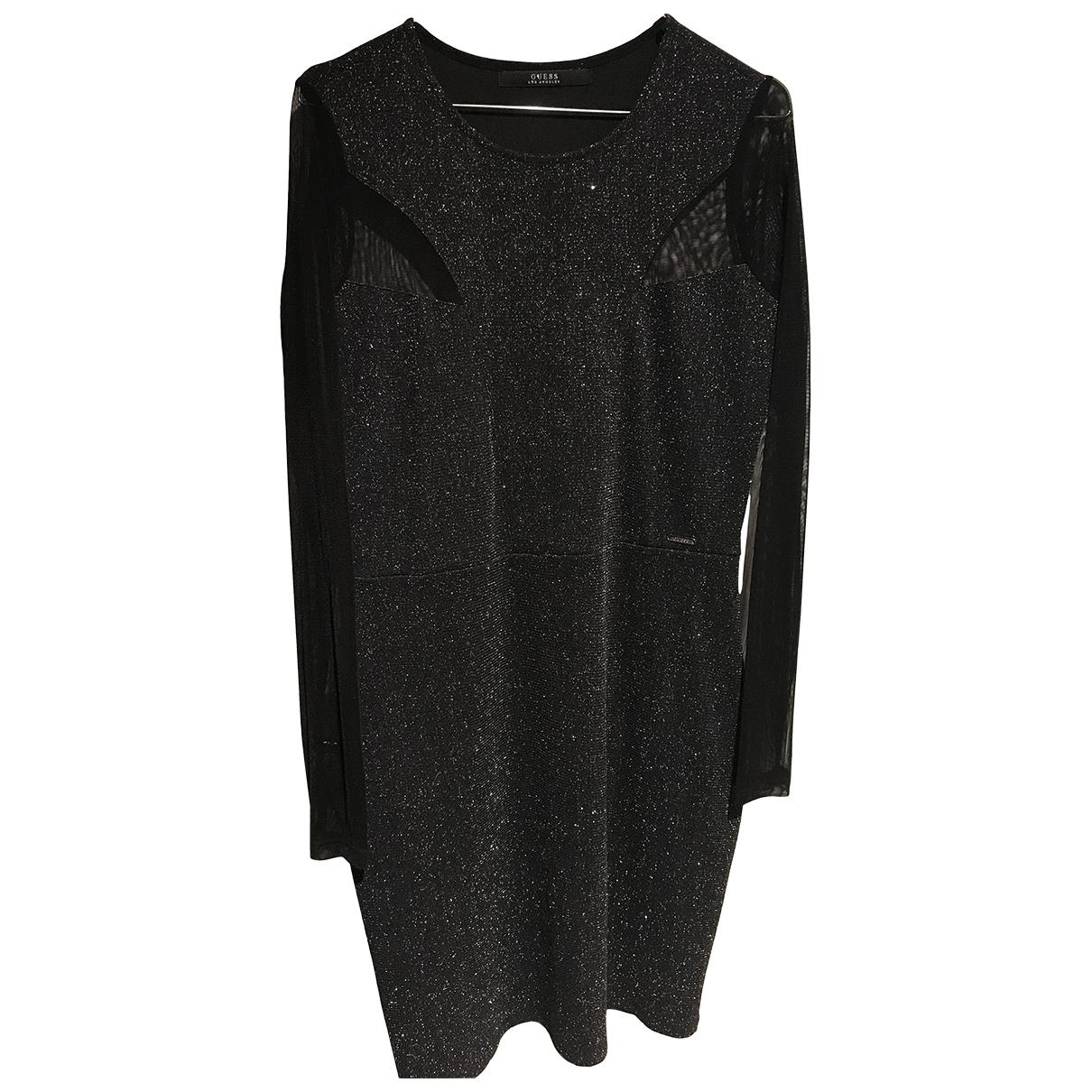 Guess - Robe   pour femme en coton - elasthane - noir