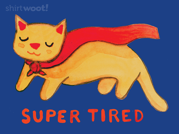 Super Tired Cat T Shirt