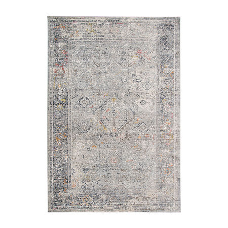 Fairmont 2 Rectangular Indoor Rugs, One Size , Silver