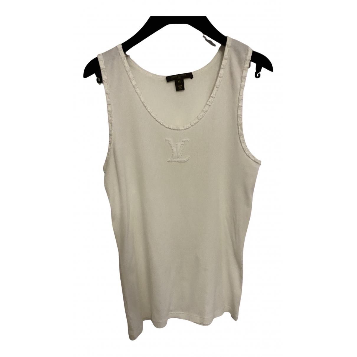 Louis Vuitton N White Cotton  top for Women XL International