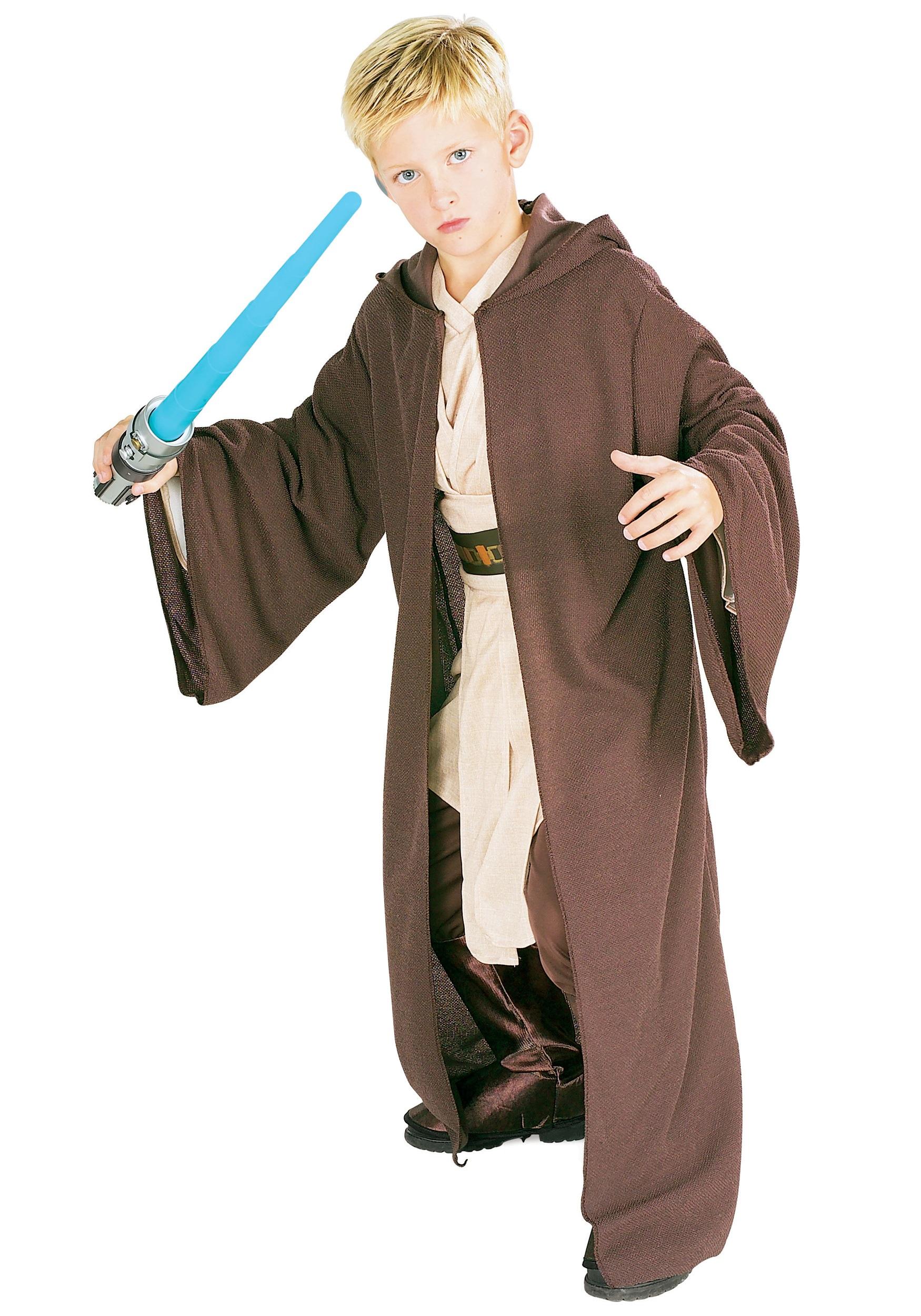 Kids Deluxe Jedi Robe - Star Wars Child Jedi Robe Costume