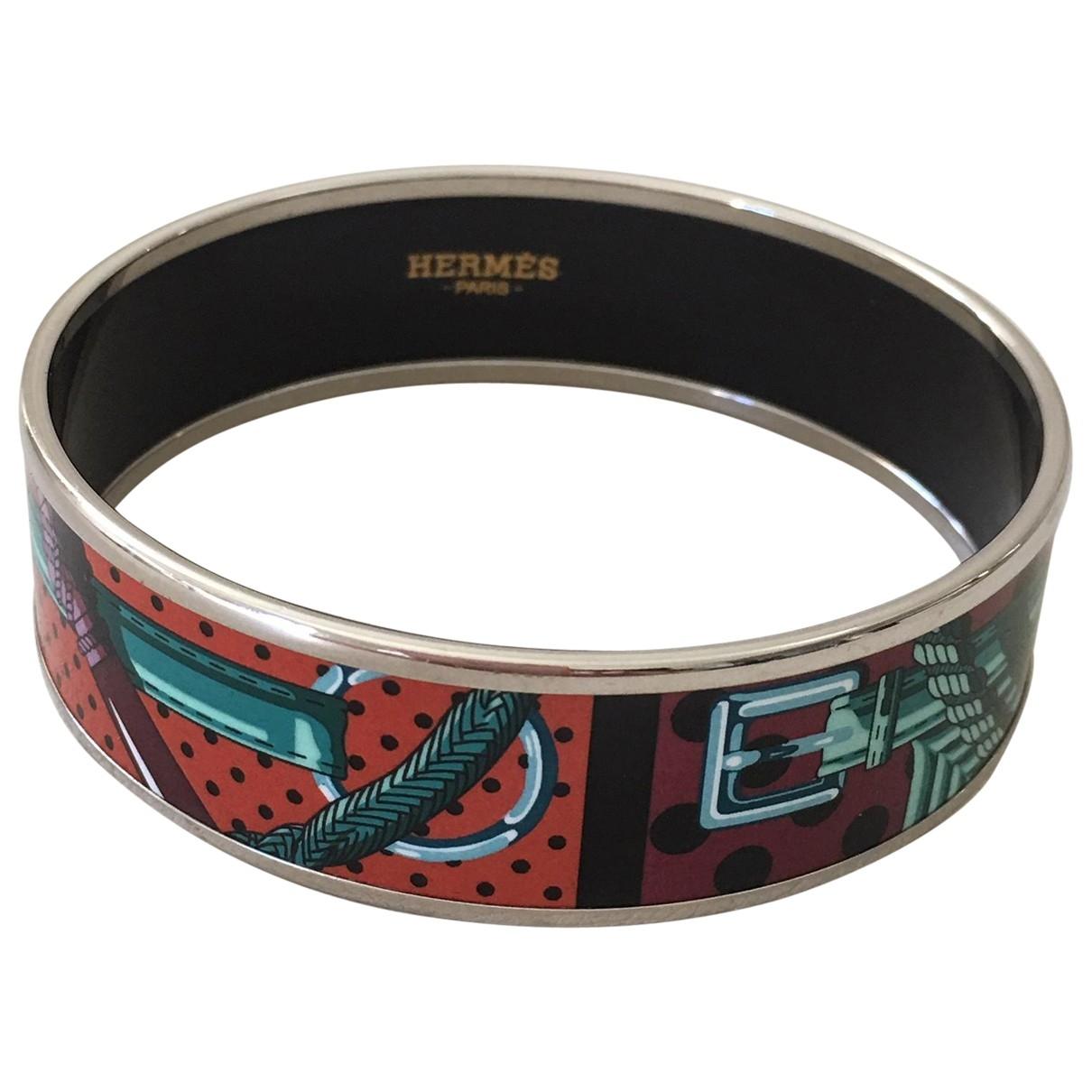 Hermes - Bracelet Bracelet Email pour femme en metal - violet