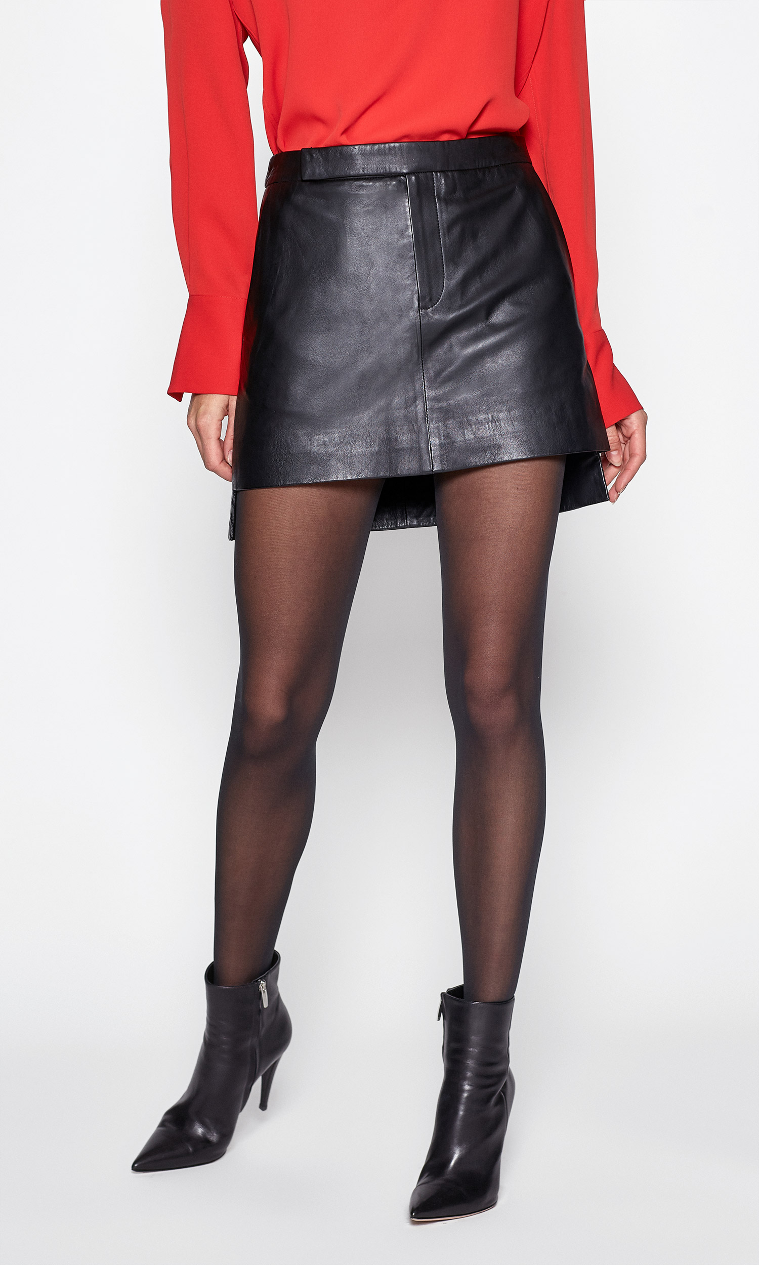 Delafine Leather Skirt by Equipment