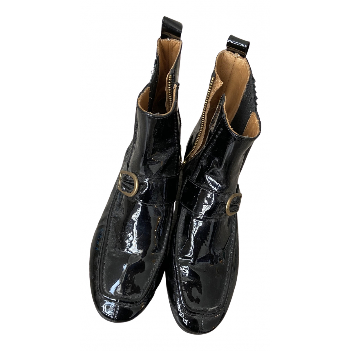 Isabel Marant \N Black Patent leather Ankle boots for Women 37 EU