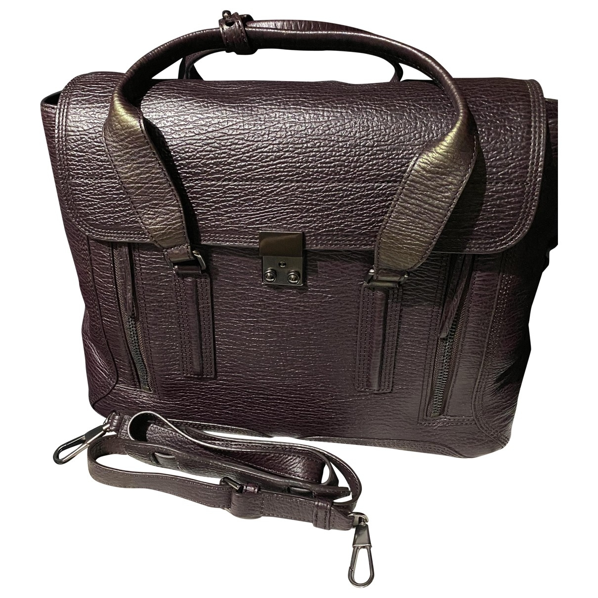3.1 Phillip Lim Pashli Purple Leather handbag for Women \N