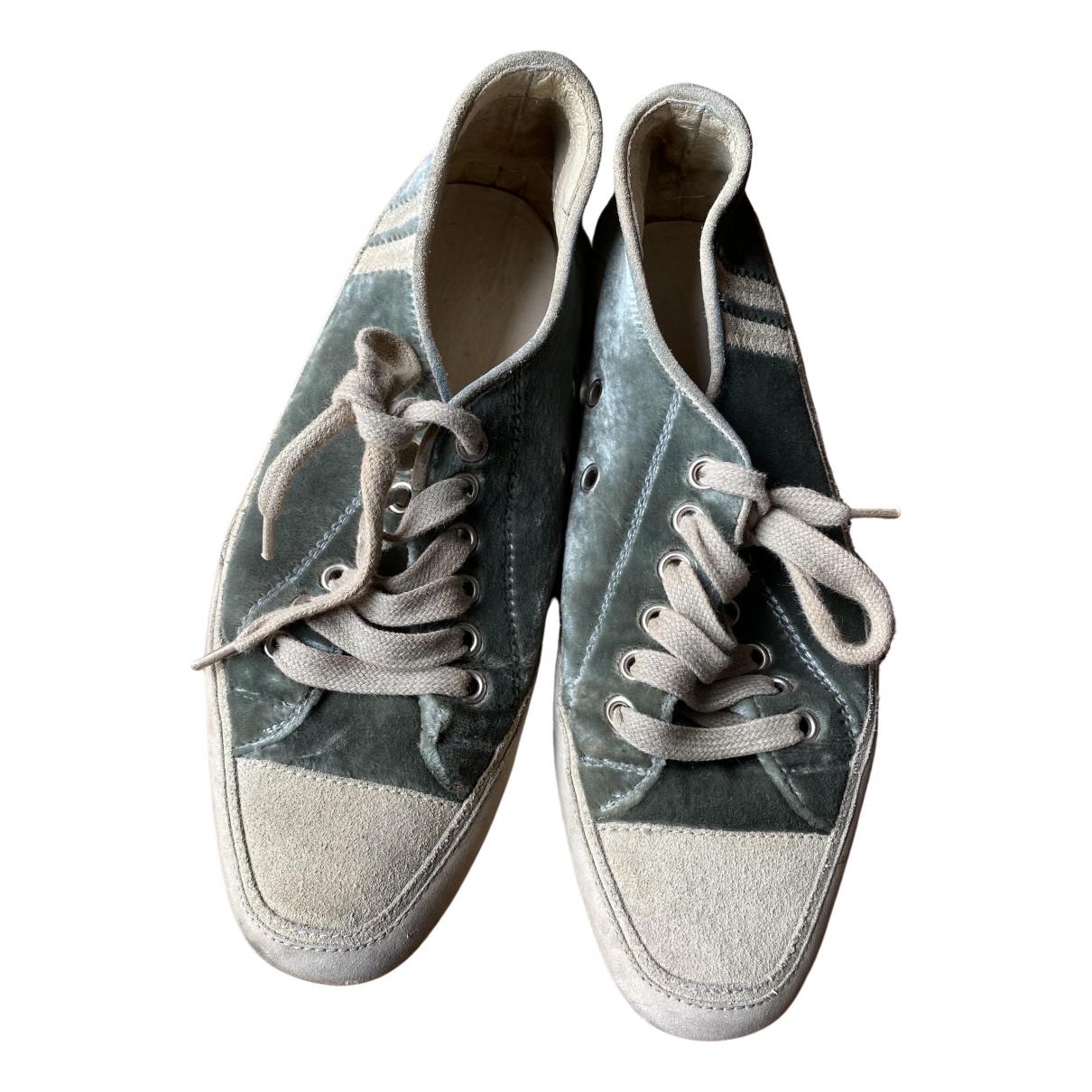 Emma Hope \N Sneakers in  Anthrazit Samt