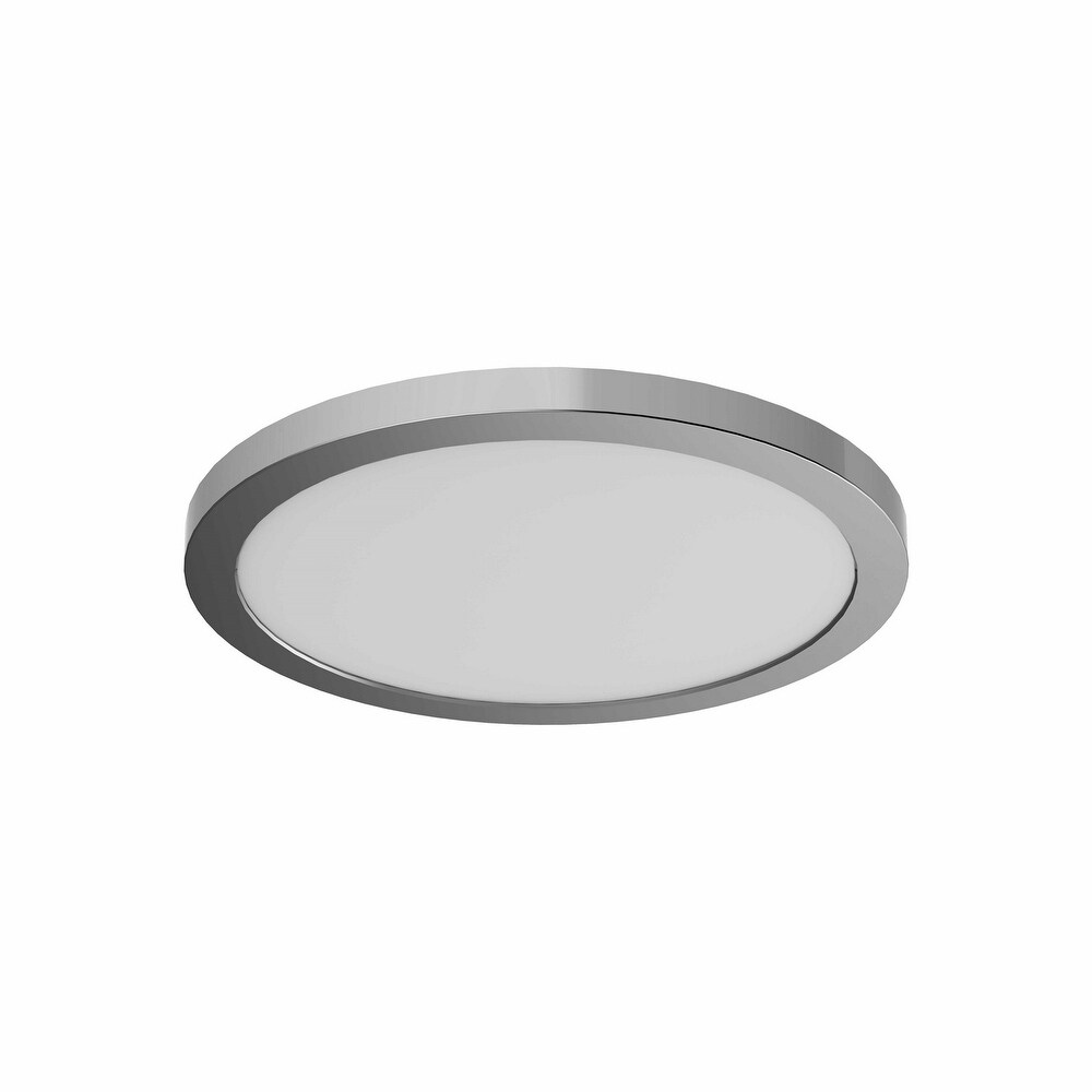 DVI Lighting DVP38918CH3K One Light Flush Mount Avro Chrome (3000K) - One Size (One Size - Clear)