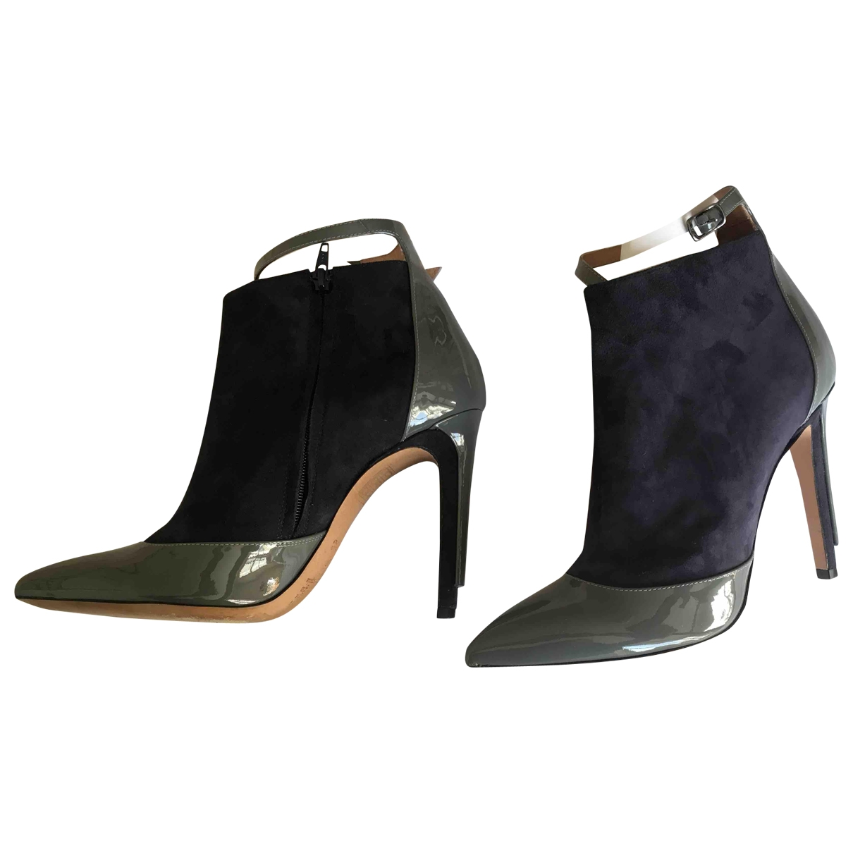 Maison Martin Margiela \N Blue Leather Ankle boots for Women 4 UK