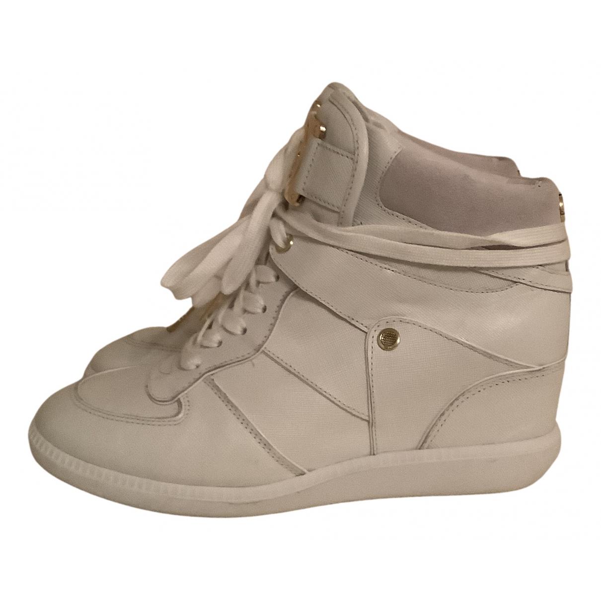 Michael Kors - Baskets   pour femme en cuir - blanc