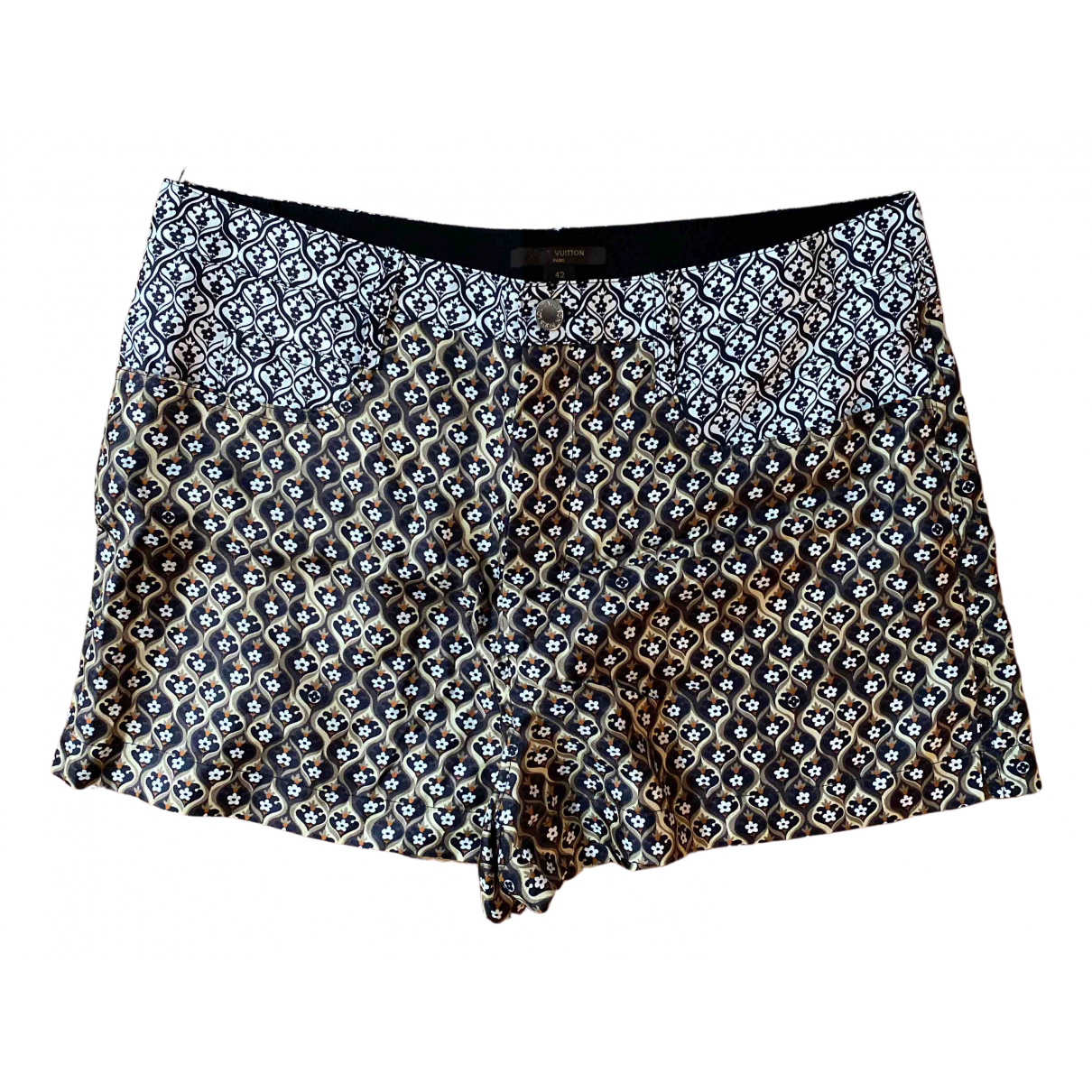 Louis Vuitton \N Shorts in  Silber Seide