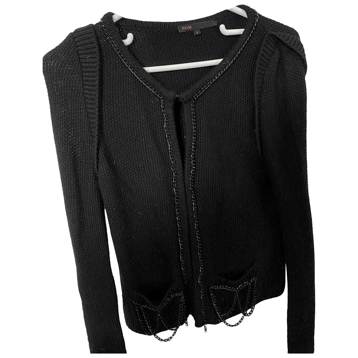 Maje \N Black Wool Knitwear for Women S International