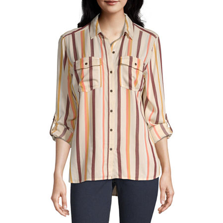 a.n.a Womens Long Sleeve Regular Fit Button-Down Shirt, Xx-large , White