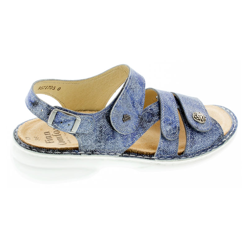 Finn Comfort Gomera Hippie Jeans Leather Soft Footbed 41