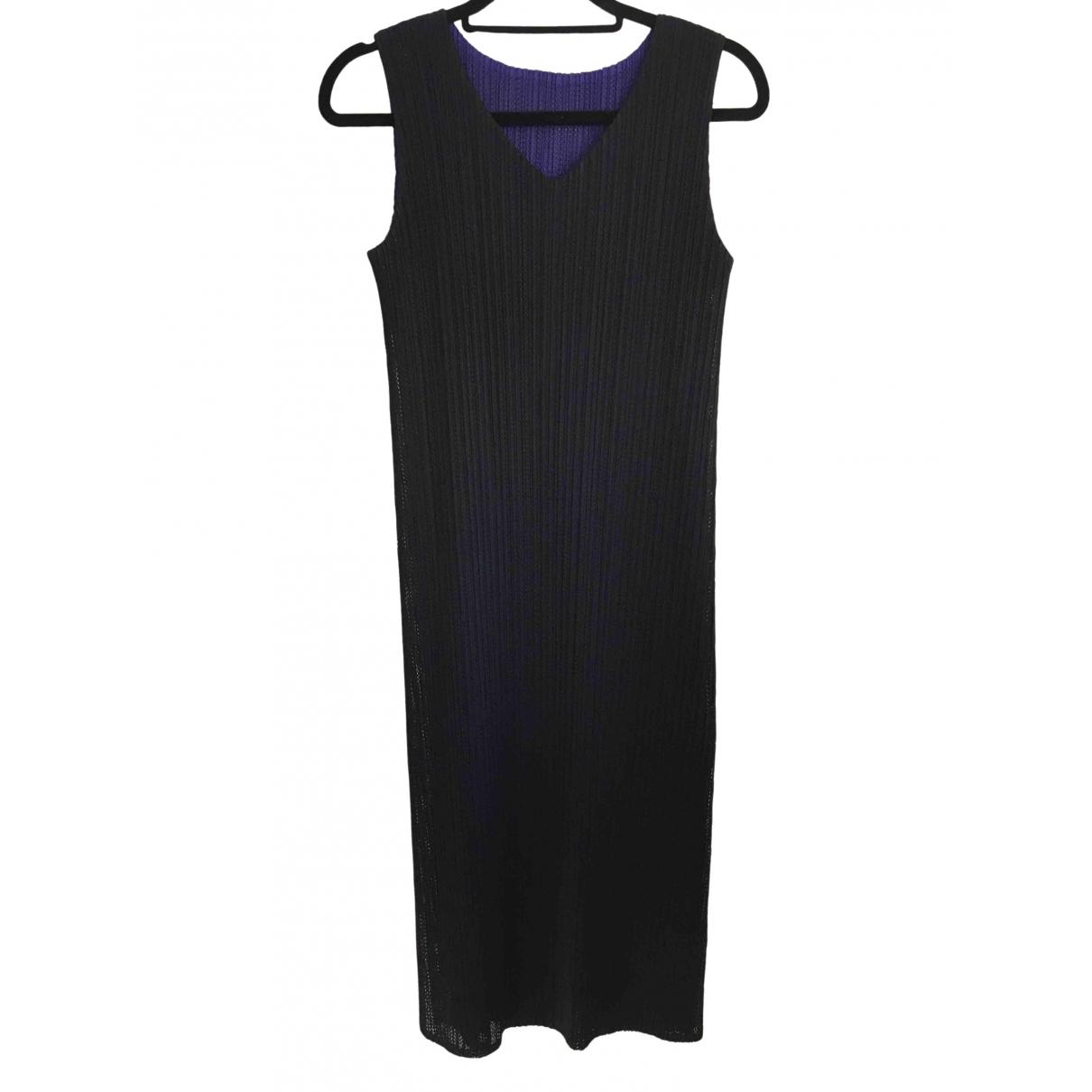 Pleats Please \N Kleid in  Marine Polyester
