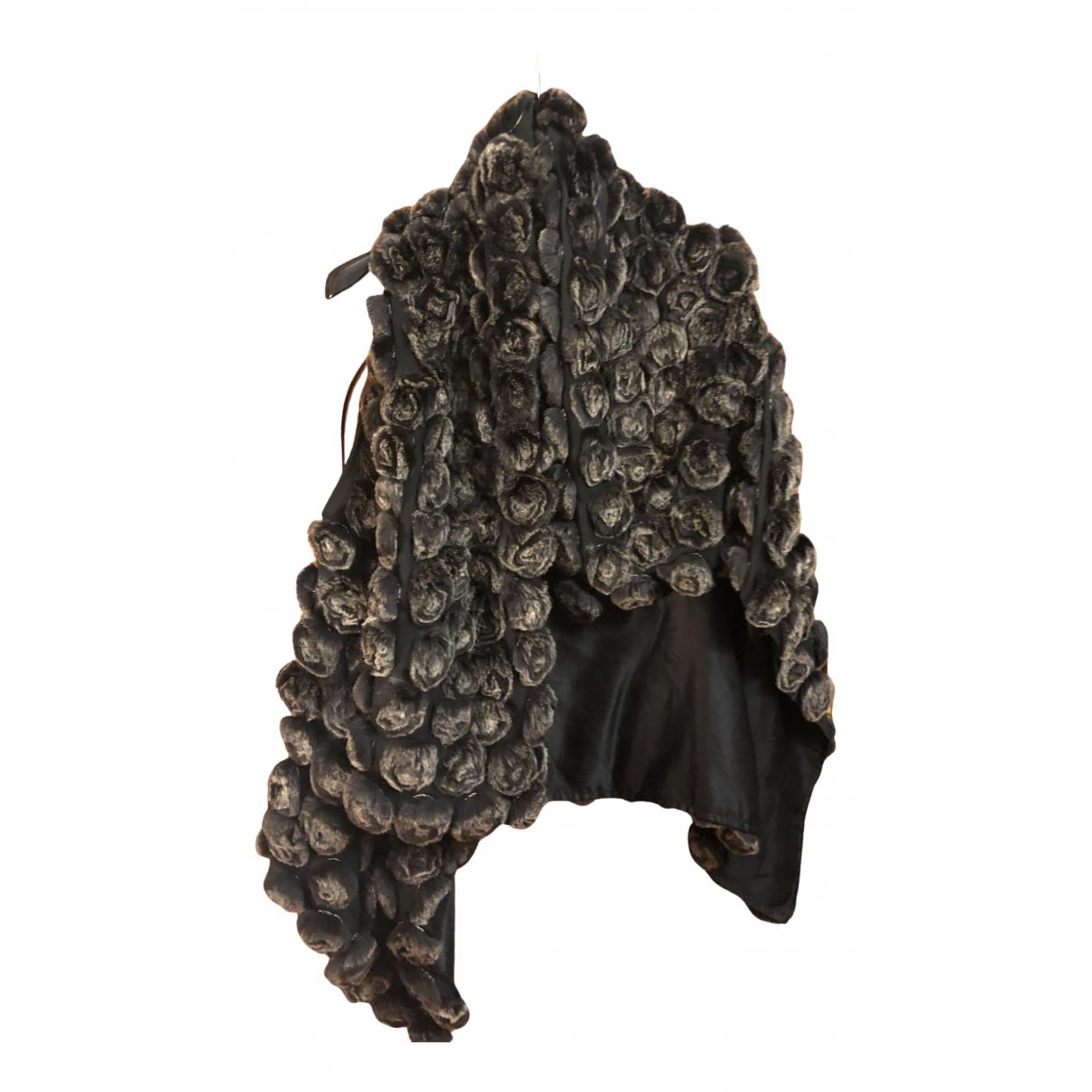 Yves Salomon N Brown Rabbit jacket for Women 38 FR