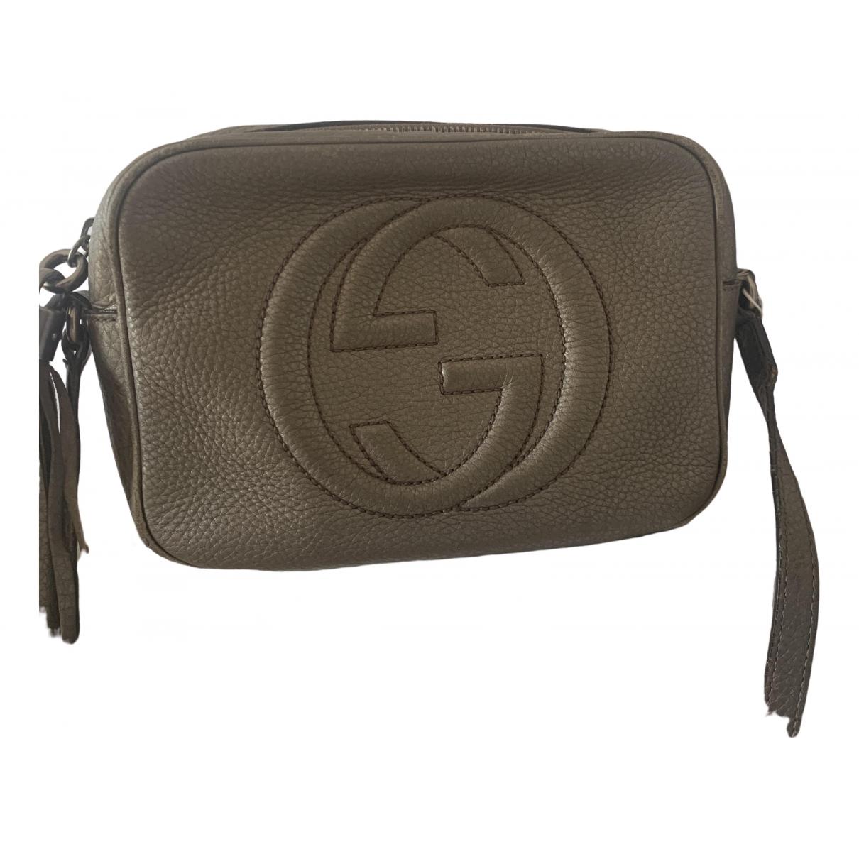 Gucci - Sac a main Soho pour femme en cuir - metallise