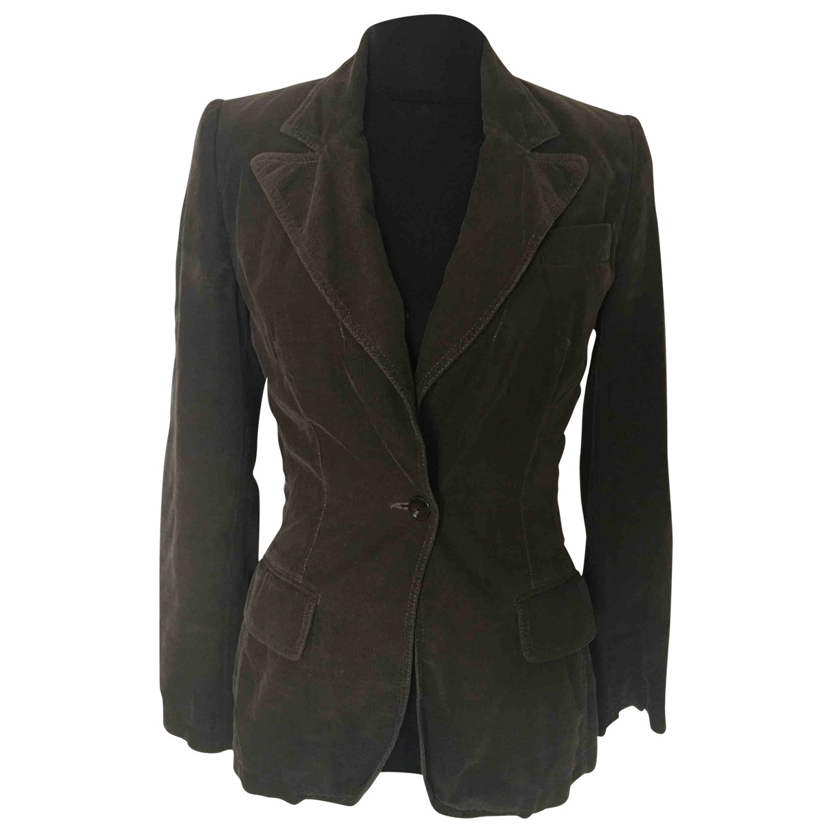 Stella Mccartney \N Khaki Velvet jacket for Women 38 FR