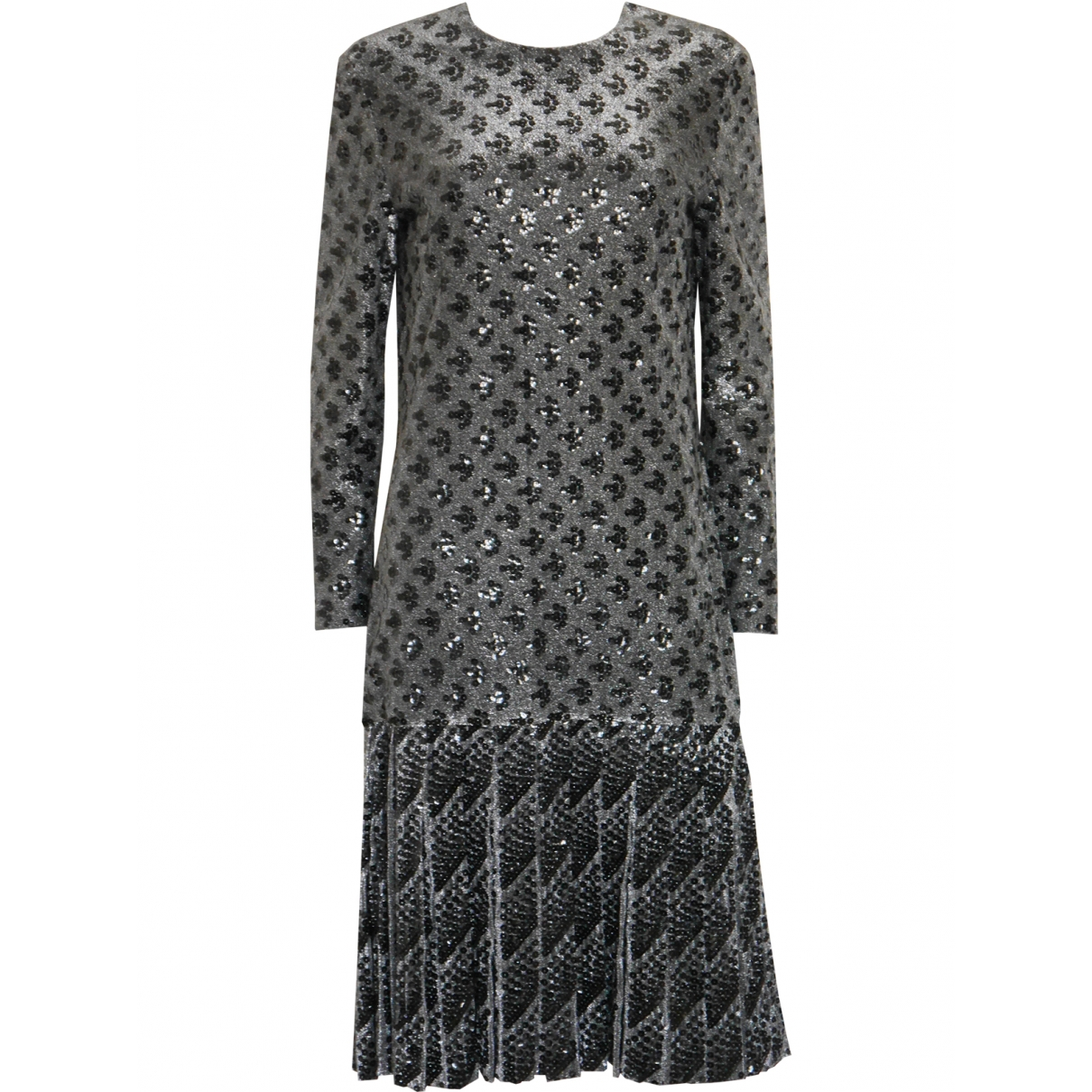 Christian Dior \N Kleid in  Silber Mit Pailletten