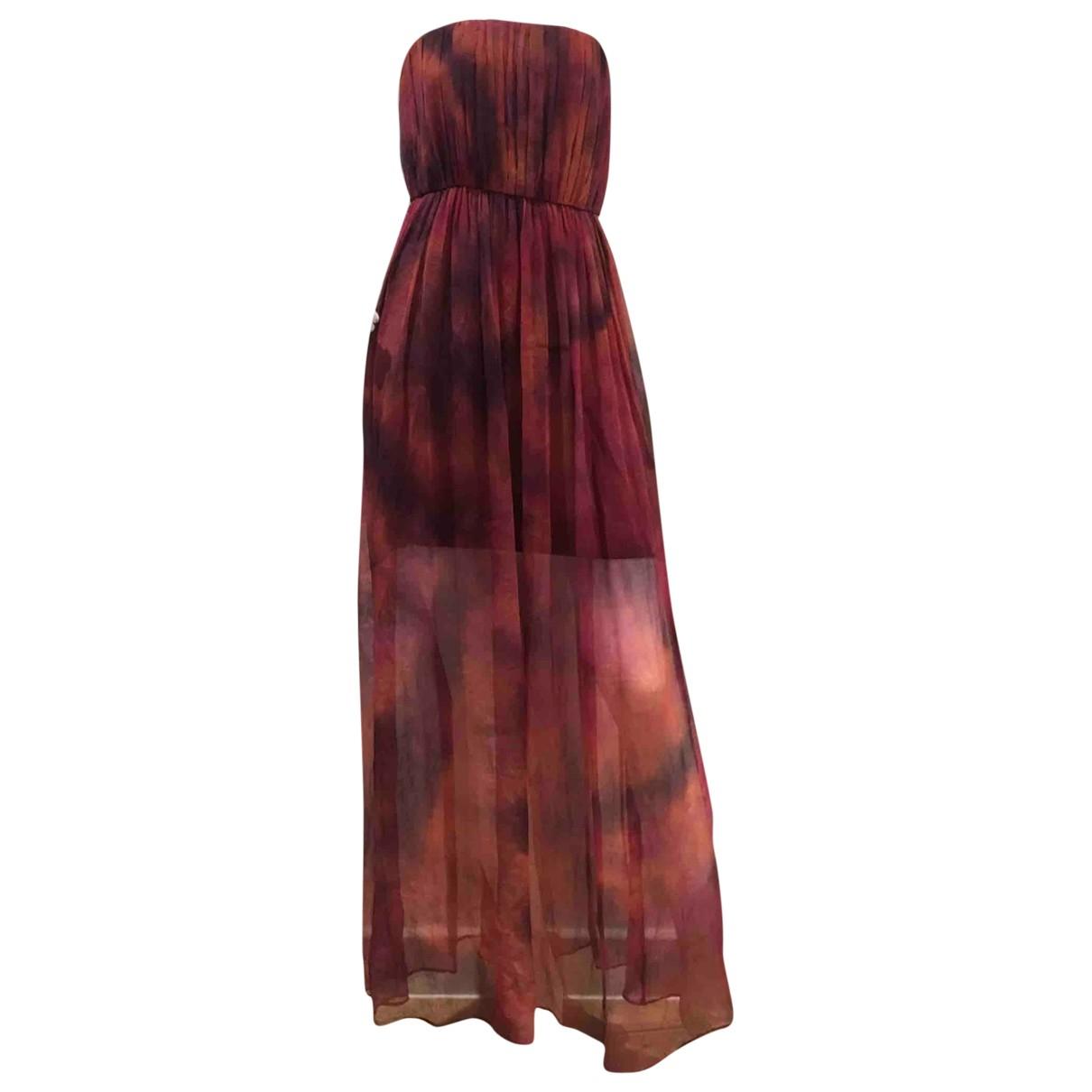Alice & Olivia - Robe   pour femme en soie - bordeaux