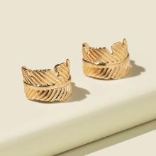 2 Stuecke Metall Ohrringe
