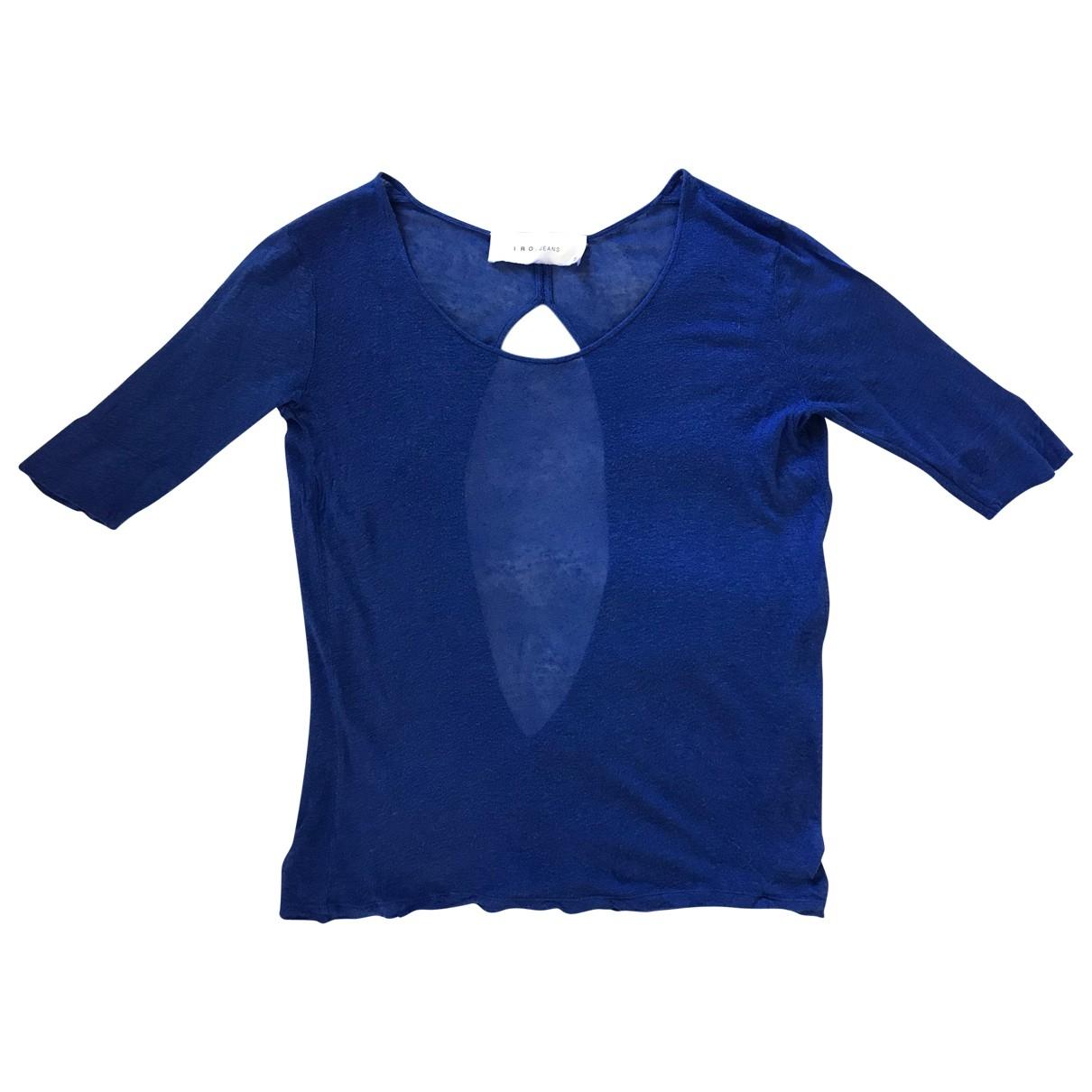 Iro \N Top in  Blau Baumwolle